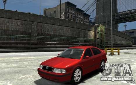 Skoda Octavia v.1.0 for GTA 4 back view