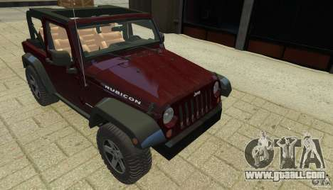 Jeep Wrangler Rubicon 2012 for GTA 4 side view