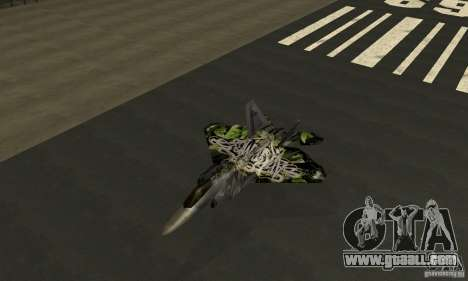 F-22 Raptor Graffity Skin 2 for GTA San Andreas