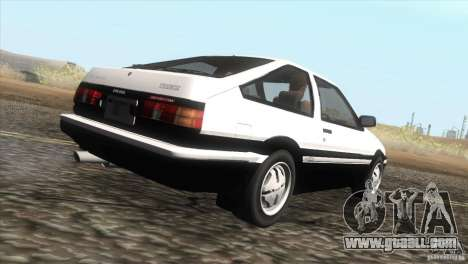 Toyota Sprinter Trueno AE86 GT-Apex for GTA San Andreas right view