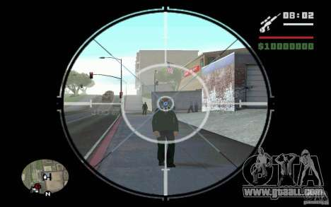 Sniper mod v 1. for GTA San Andreas