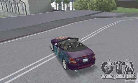 Mercedes-Benz SLK 350 for GTA San Andreas engine