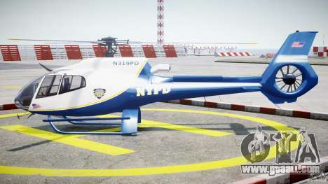 Eurocopter EC 130 NYPD for GTA 4 left view