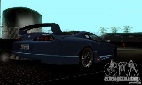 Toyota Supra TRD for GTA San Andreas right view