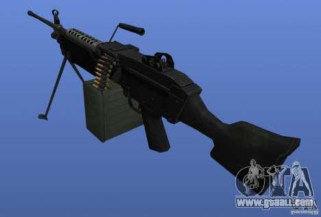 Machine Gun M249SAW for GTA 4 second screenshot