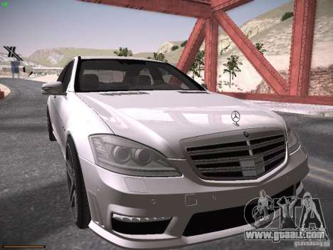 Mercedes Benz S65 AMG 2012 for GTA San Andreas left view