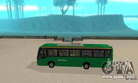 MetroBus of Venezuela for GTA San Andreas back left view