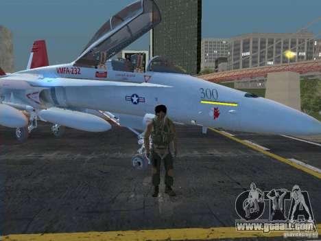 FA-18D Hornet for GTA San Andreas back left view