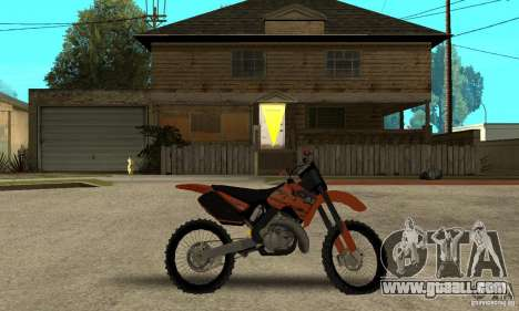 KTM SX250 for GTA San Andreas back left view