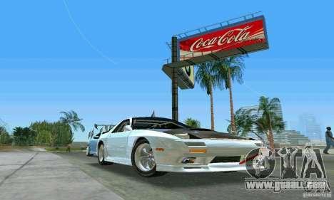 Mazda Savanna RX-7 FC3S for GTA Vice City back view