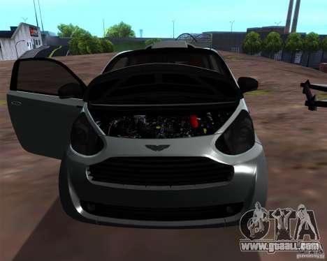 Aston Martin Cygnet for GTA San Andreas back view