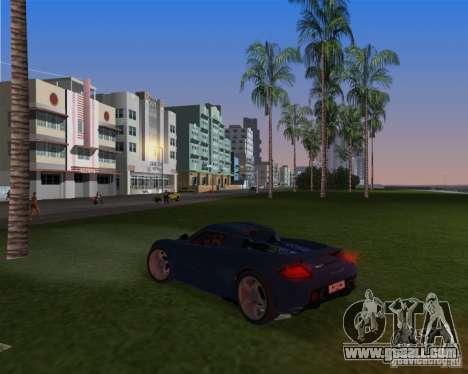 Porsche Carrera GT for GTA Vice City back left view