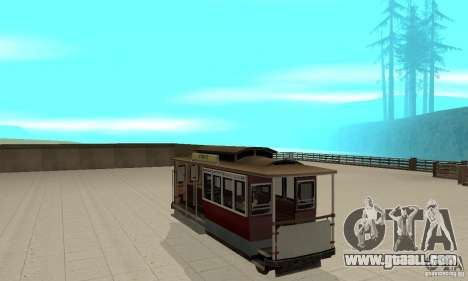 Tram for GTA San Andreas right view