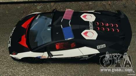 Lamborghini Sesto Elemento 2011 Police v1.0 RIV for GTA 4 right view
