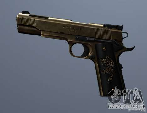 Golden 1911 for GTA San Andreas third screenshot