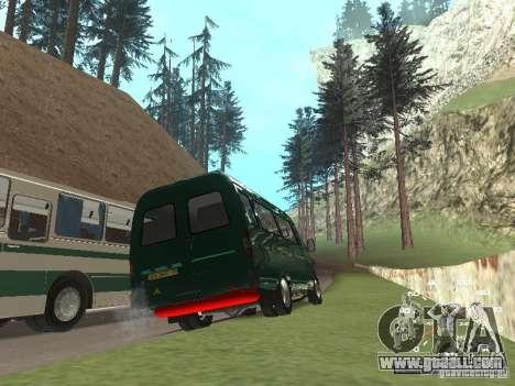 GAZ 32213 for GTA San Andreas back view