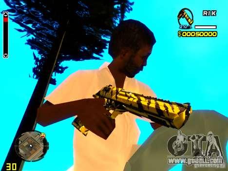 Tiger wepon pack for GTA San Andreas third screenshot