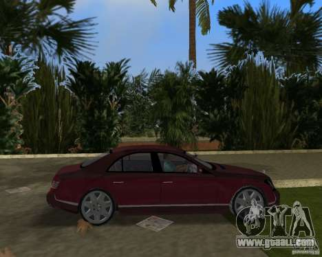 Maybach 57 for GTA Vice City back view