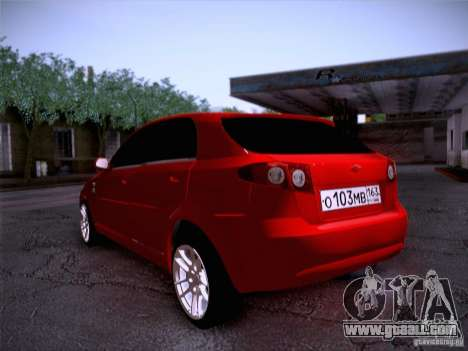 Chevrolet Lacetti for GTA San Andreas left view