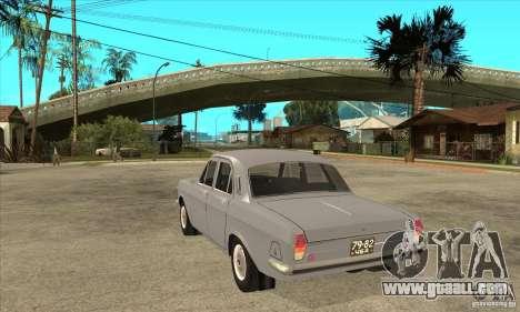 GAZ Volga 24 for GTA San Andreas back left view