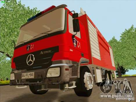 Mercedes Benz Actros Bomberos C1 for GTA San Andreas inner view