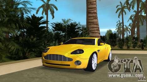 Aston Martin V12 Vanquish 6.0 i V12 48V v2.0 for GTA Vice City