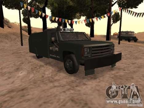 GMC SIERRA 3500 for GTA San Andreas inner view