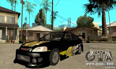 Honda Civic Tuning Tunable for GTA San Andreas left view