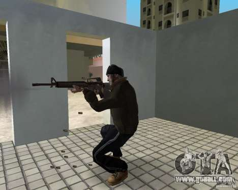 Niko Bellic in ear flaps for GTA Vice City sixth screenshot