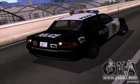 NFS Undercover Police Car for GTA San Andreas right view