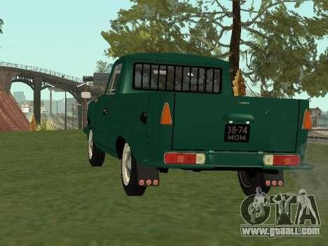 IZH 27151 PickUp for GTA San Andreas back left view