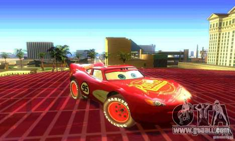 MCQUEEN from Cars for GTA San Andreas