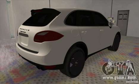 Porsche Cayenne Turbo Black Edition for GTA San Andreas back left view
