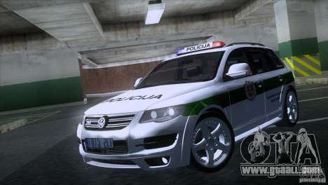 Volkswagen Touareg Policija for GTA San Andreas left view