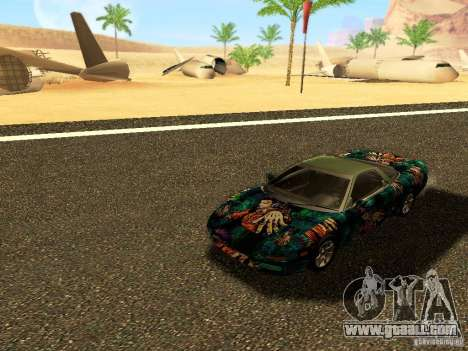 Honda NSX Custom for GTA San Andreas inner view