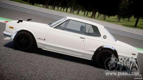 Nissan Skyline 2000 GT-R for GTA 4 bottom view