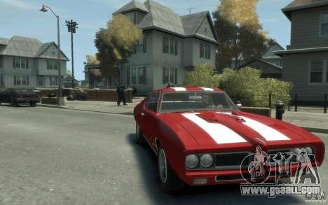 Pontiac GTO Hardtop 1968 v1 for GTA 4 back view