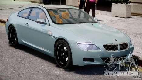 BMW M6 G-Power Hurricane for GTA 4 inner view