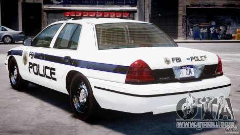 Ford Crown Victoria 2003 FBI Police V2.0 [ELS] for GTA 4 right view