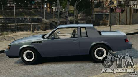 Buick GNX 1987 for GTA 4 left view