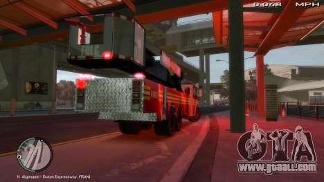 SS10 Tower Ladder v1.0 for GTA 4 back left view