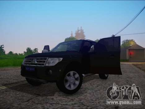 Mitsubishi Pajero 2012 for GTA San Andreas