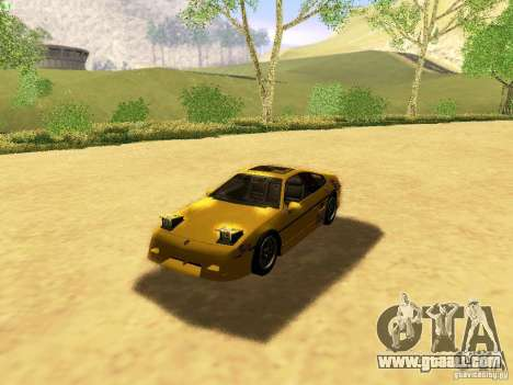 Pontiac Fiero V8 for GTA San Andreas bottom view