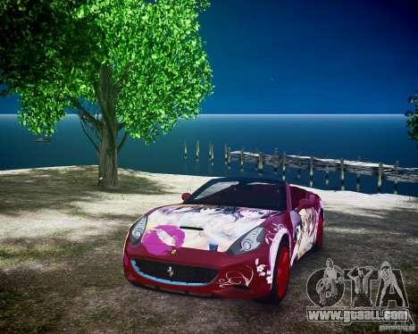 Ferrari California DC Texture for GTA 4 back view