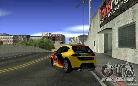 Seat Leon Cupra R for GTA San Andreas upper view