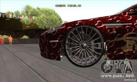 Aston Martin DB9 Female Edition for GTA San Andreas inner view
