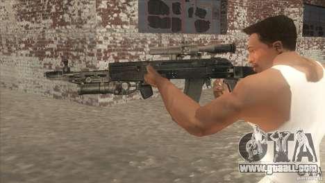AK-47 v2 for GTA San Andreas second screenshot