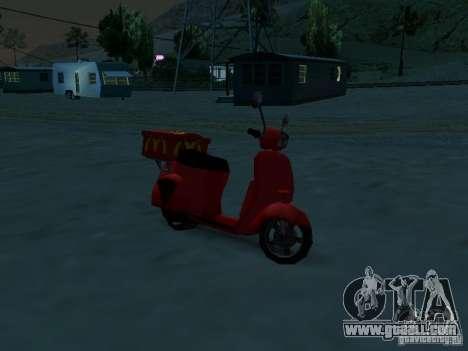 McDonalds Pizzaboy for GTA San Andreas