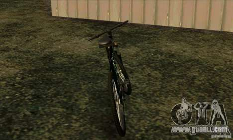 Bike with Monster Energy for GTA San Andreas back left view