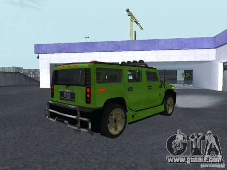 HUMMER H2 Tunable for GTA San Andreas right view